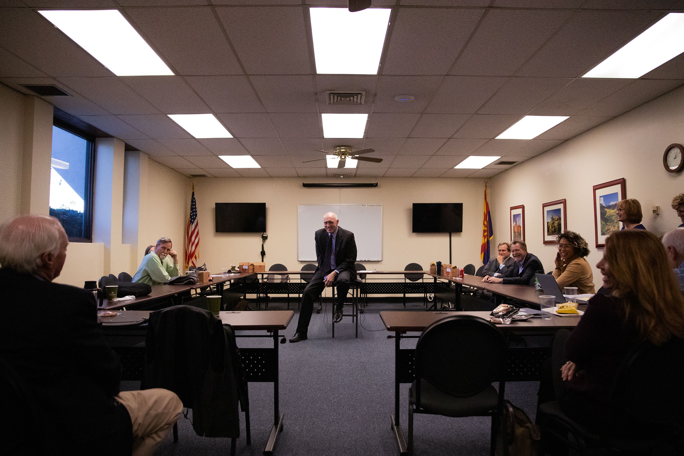 Rep. Russell Bowers addresses folks from the WRAN over lunch in the Arizona Leagues of City and Towns building on the legislative campus. Dominic Arenas/Audubon