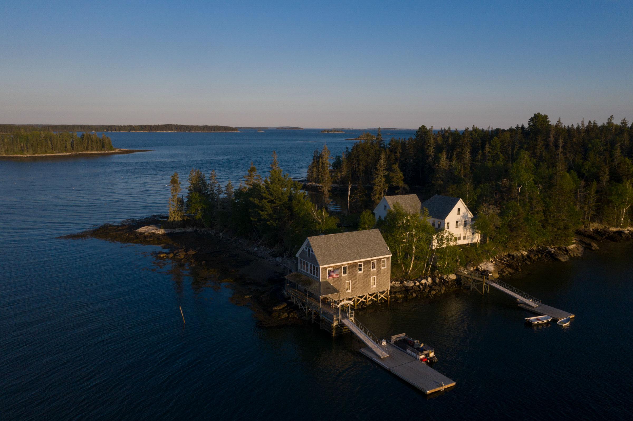 Aerials of Todd Wildlife Sanctuary and Hog Island Audubon Camp in 2019. Luke Franke/Audubon