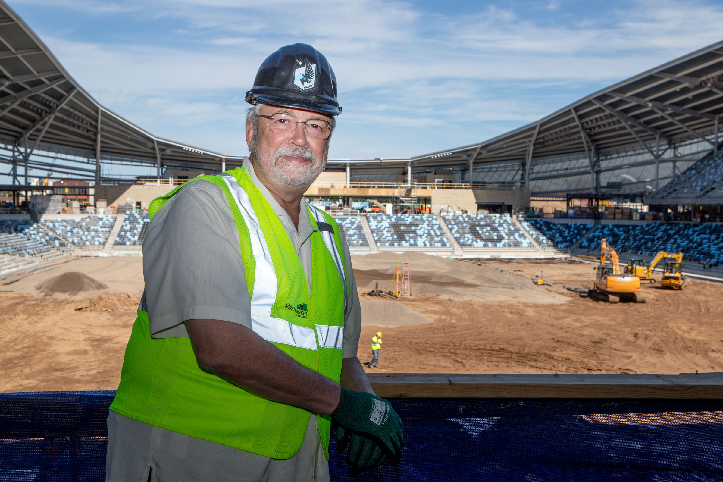 Bill McGuire, managing partner of Minnesota United FC, has taken birds into consideration since he began hatching plans for Allianz Field three years ago. In September construction was more than 80 percent complete. Camilla Cerea/Audubon