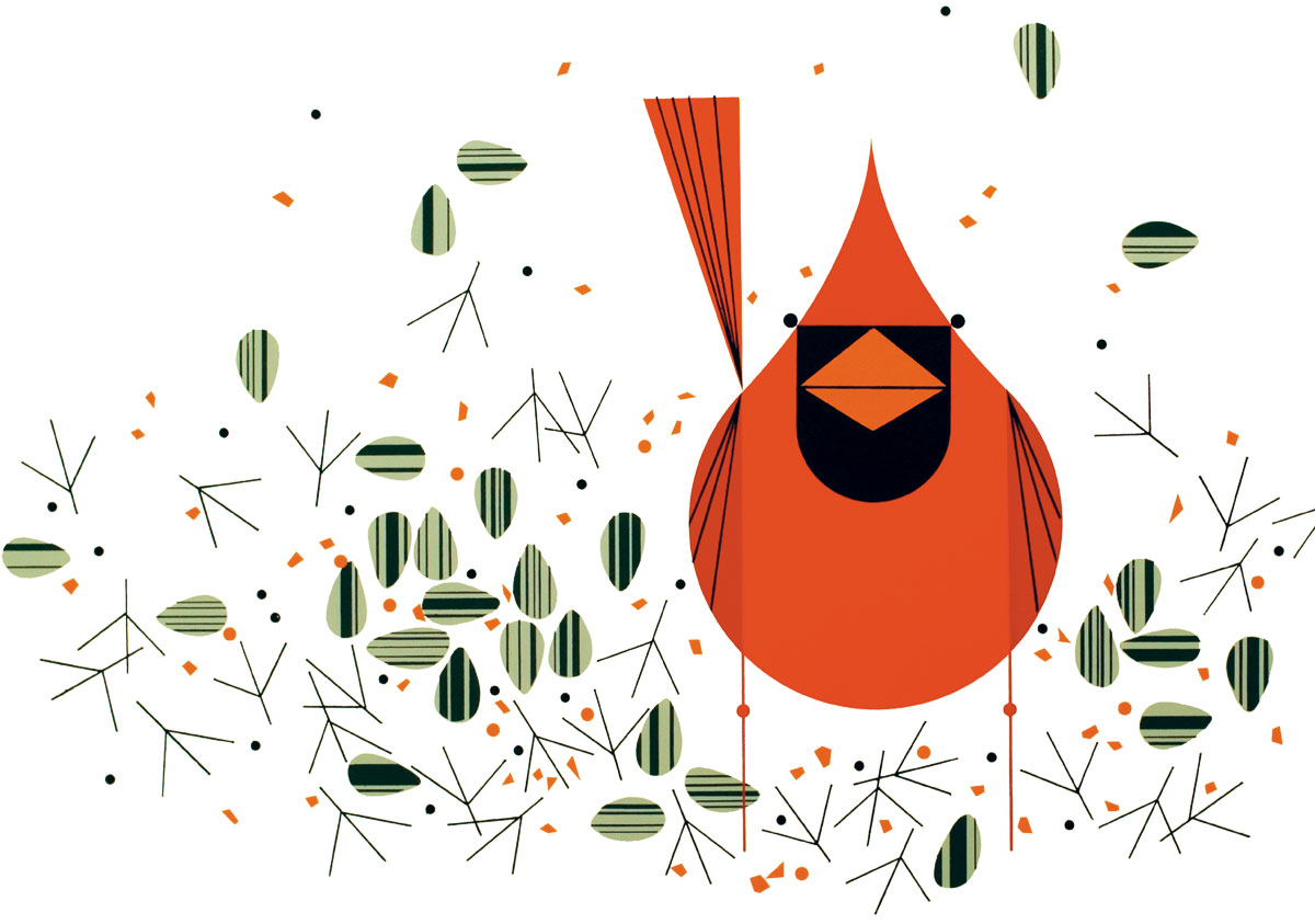 Northern Cardinal. Illustration: Charley Harper