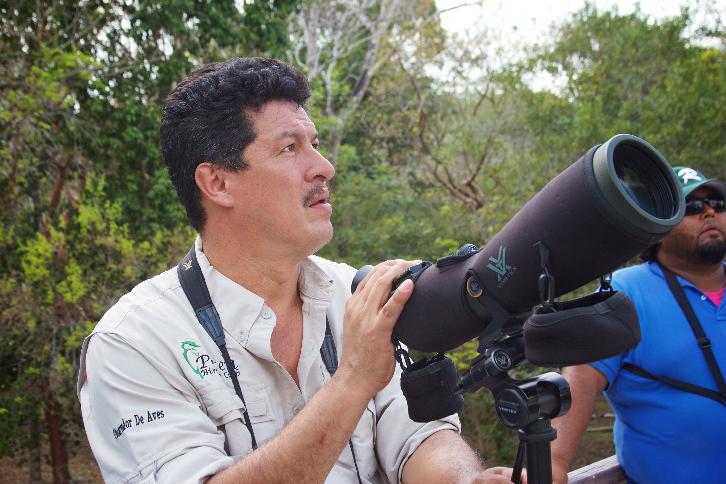 Marciál Córdoba, who coordinated the bird-guide training program in the Petén rregion, is a field coordinator for the Wildlife Conservation Society (WCS). Tom Clynes