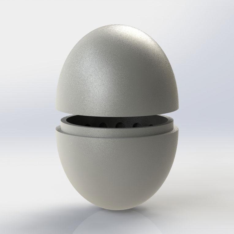 A 3-D-printed replica of a Griffon Vulture egg. Adam Bloch
