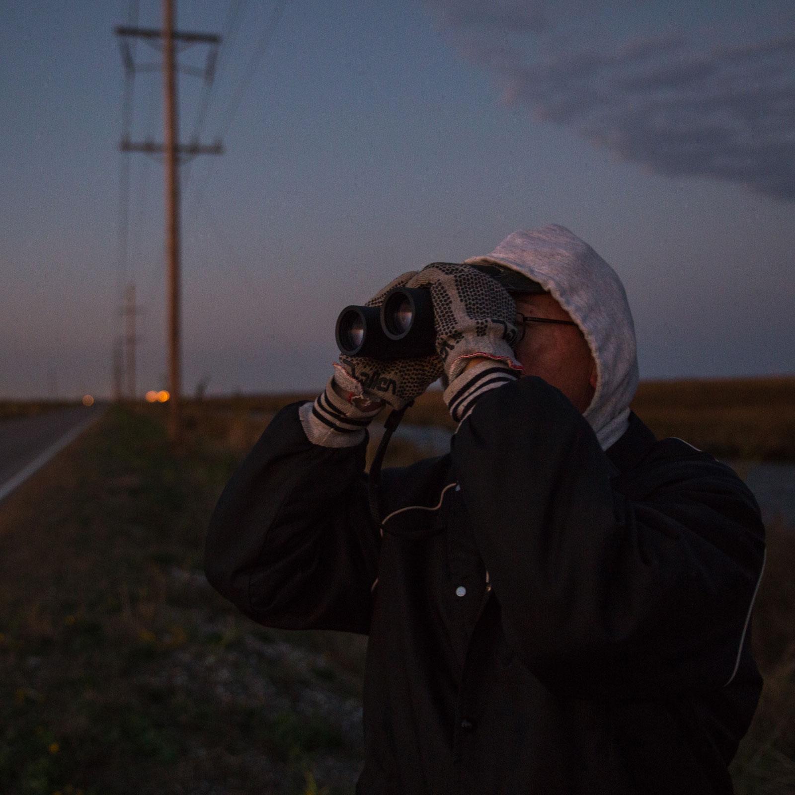 Looking for owls during the 2016 CBC near Hackberry, Louisiana. Camilla Cerea/Audubon