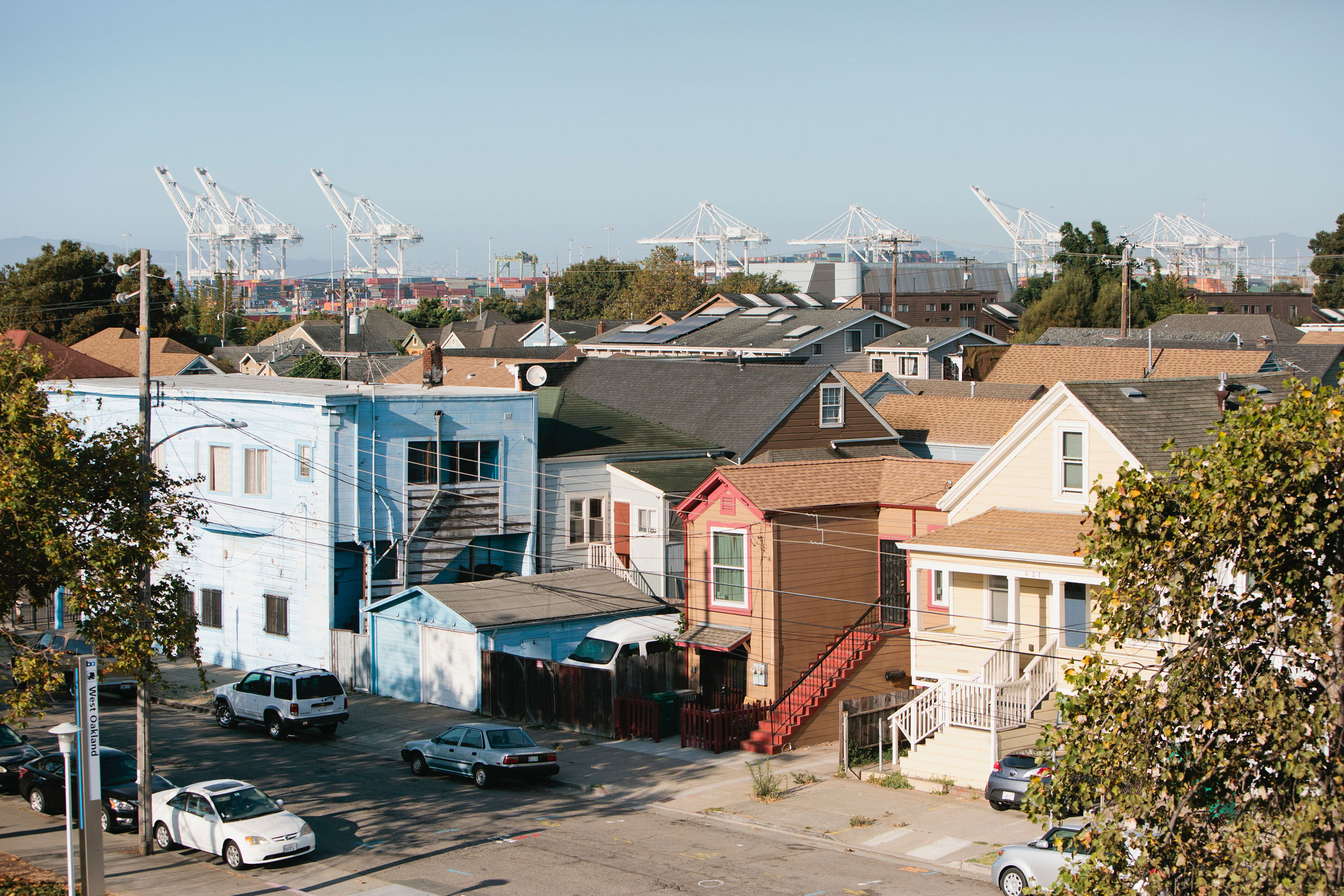 In West Oakland, black soot rims residents' windowsills and lodges in their lungs, causing asthma and other respiratory diseases. Alison Yin