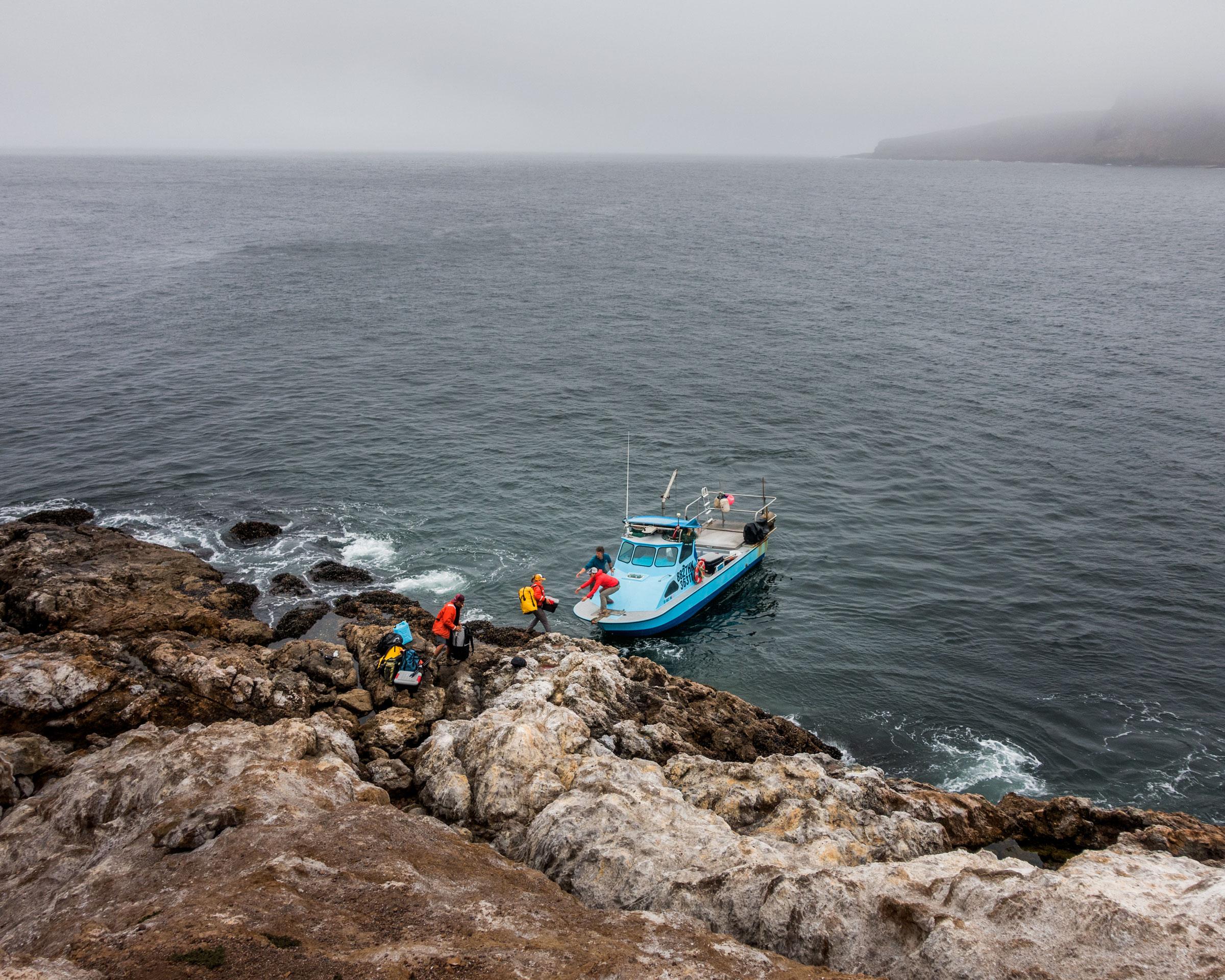 Landing at Prince Island. Jim McAuley