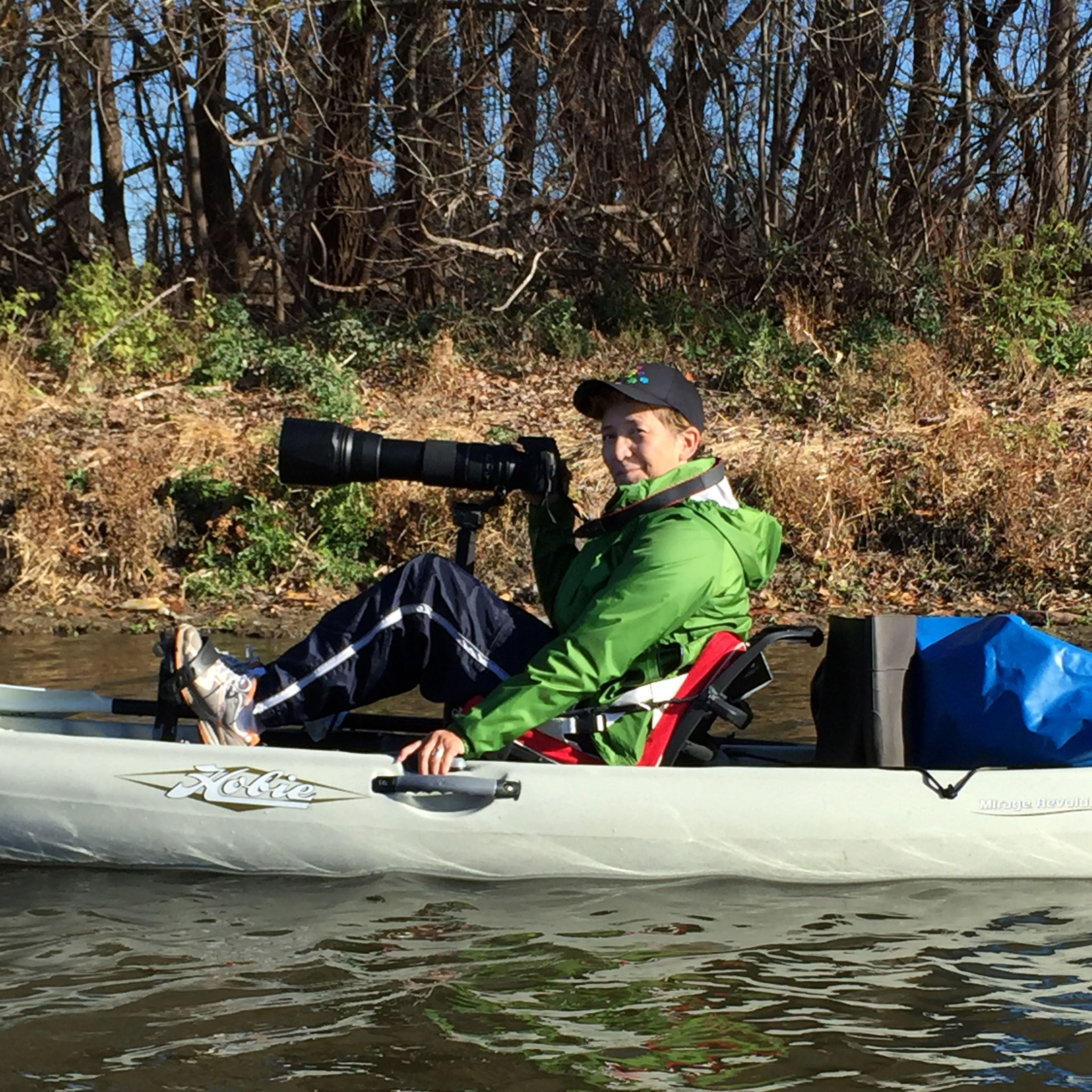 Bryand uses her kayak to paddle the lakes and creeks of Minnesota and watch birds. She's on a quest to photograph all 166 climate-threatened species in the state. Tess Rizzardi