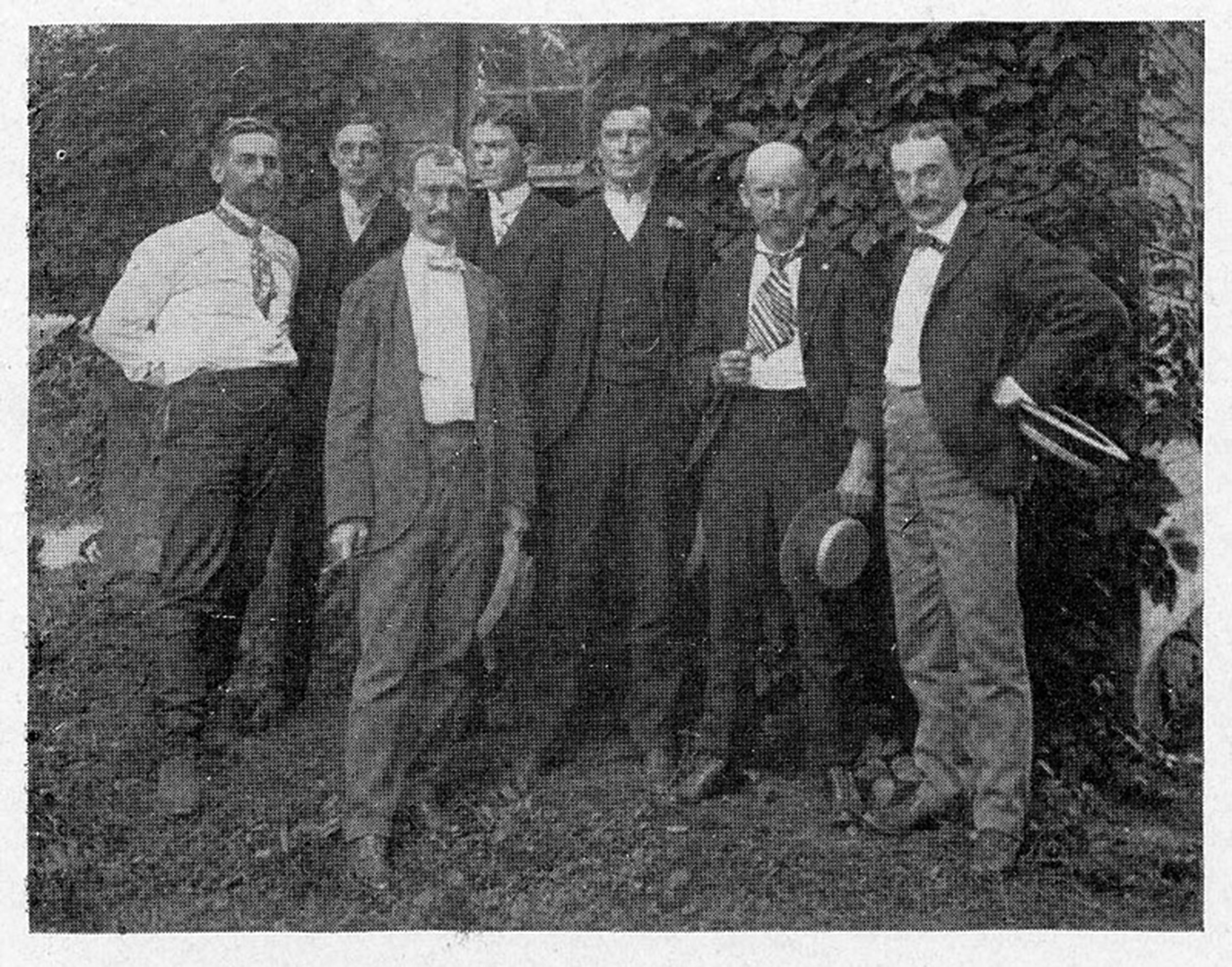 Pennock with members of the Delaware Valley Ornithological Club.