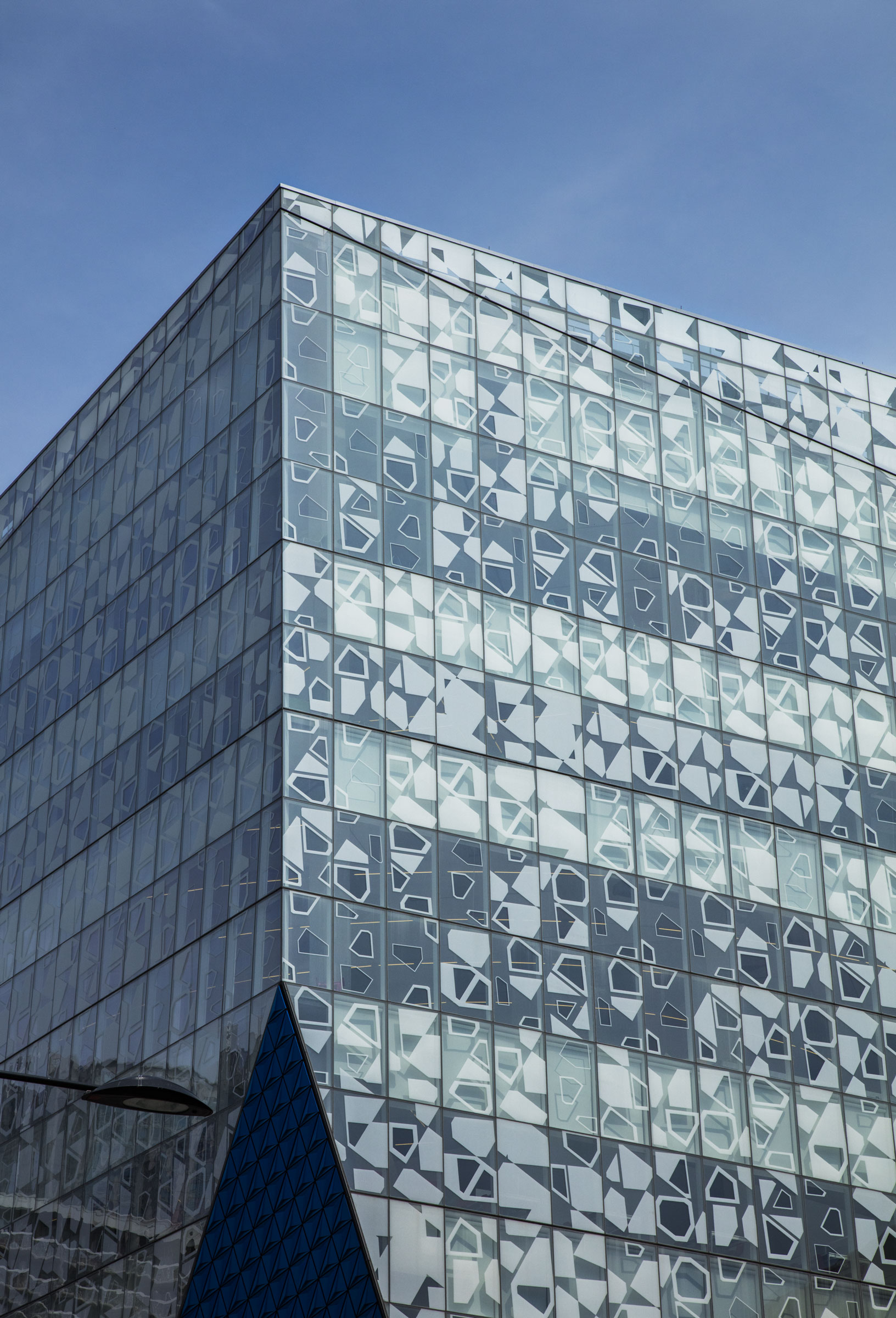 The patterns etched on windows of a Ryerson University building a in Toronto were employed for aesthetic reasons, but act as collision deterrents. Richard Barnes