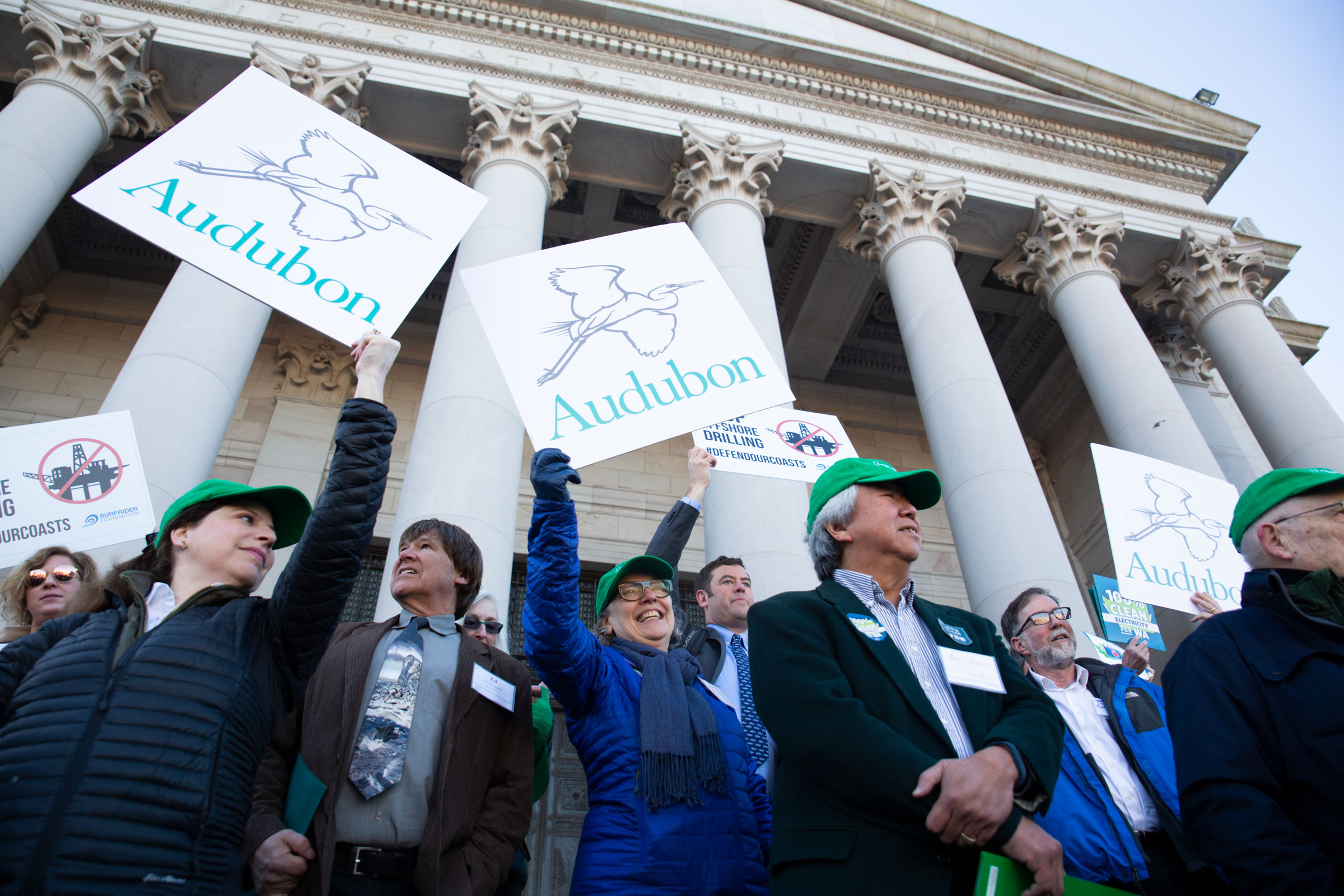 Audubon members, staff, and volunteers descend on the Washington state capitol to speak with their local representatives on Environmental Lobby Day in January of 2019. Luke Franke/Audubon