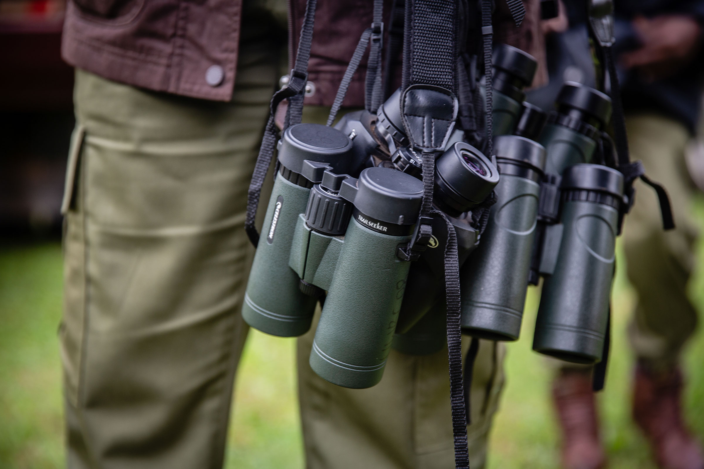 One of Mirembe's biggest challenges has been buying optics for her trainees. The Uganda Wildlife Authority recently donated 15 binoculars and field guides. Esther Ruth Mbabazi