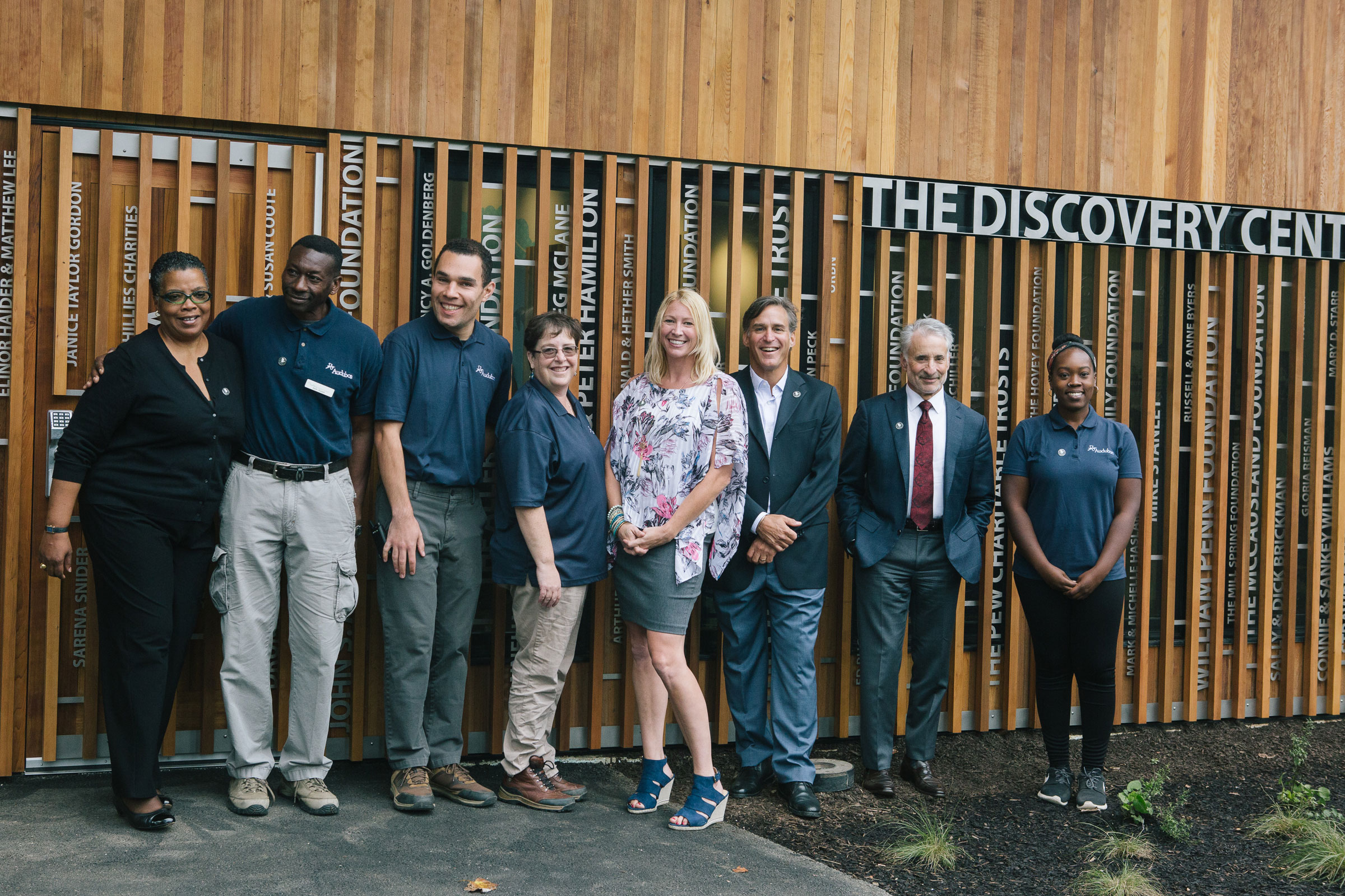 National Audubon Society and Audubon Pennsylvania teams celebrate the opening of The Discovery Center. Michelle Gustafson