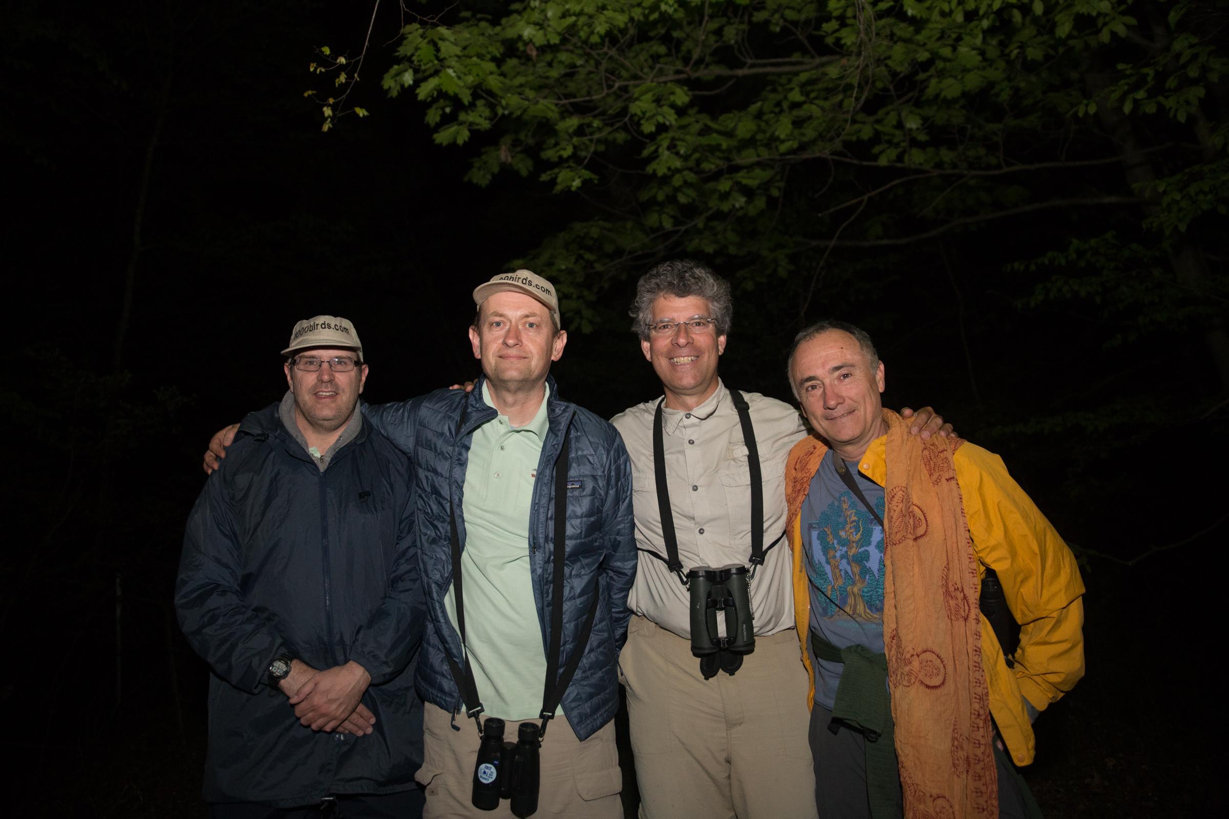 1000birds: Jonathan Wasse, Nick Kontonicolas, Marc Chelemer, and Ken Walsh. Camilla Cerea/Audubon